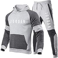 Smkenor Heren trainingspak Set Jordan 23 # Hoodie Top Bottoms Jogging Joggers Gym Sport Sweat Suit Broek (S~ 3Xl)