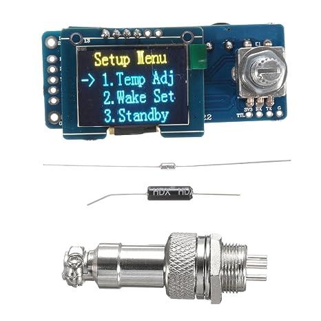 MASUNN T12 Temperatura OLED Controlador De Placa para Hakko Estación De Soldadura Digital De Hierro