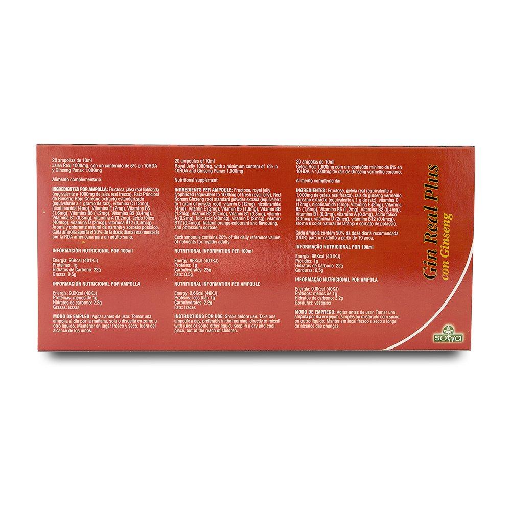 SOTYA Ginreal- Plus 20 ampollas: Amazon.es: Salud y cuidado personal