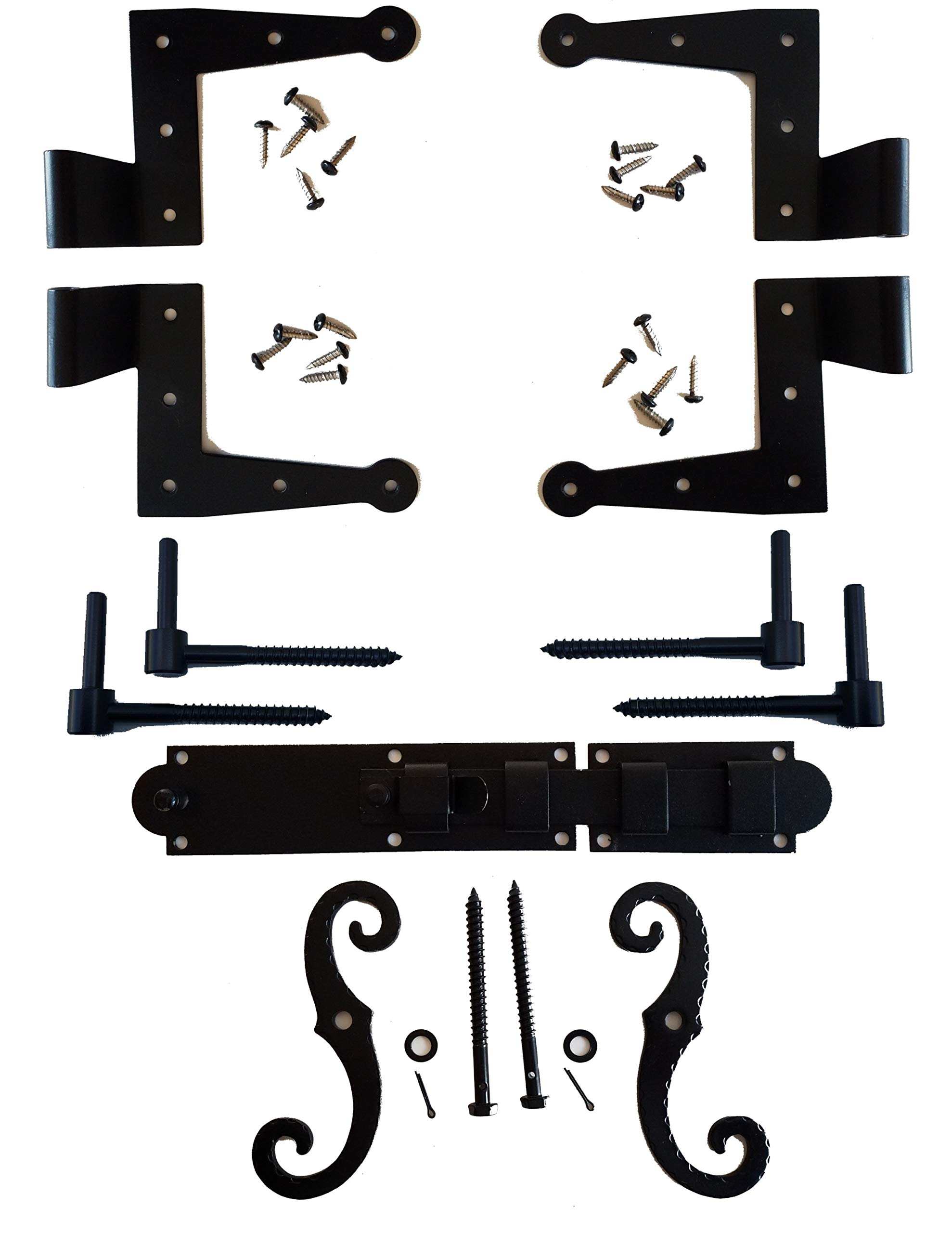 Stainless Colonial Shutter Hardware (1 1/2'' Offset) Complete Window Kit