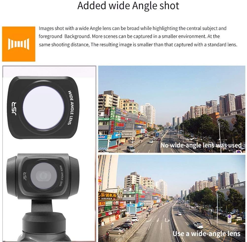 CR Wige Angle //10X//CPL Filter for DJI OSMO Pocket,Zhaowei 3 in1 Camera Lens Filter Kit Black, CR wige Angle //10X//CPL