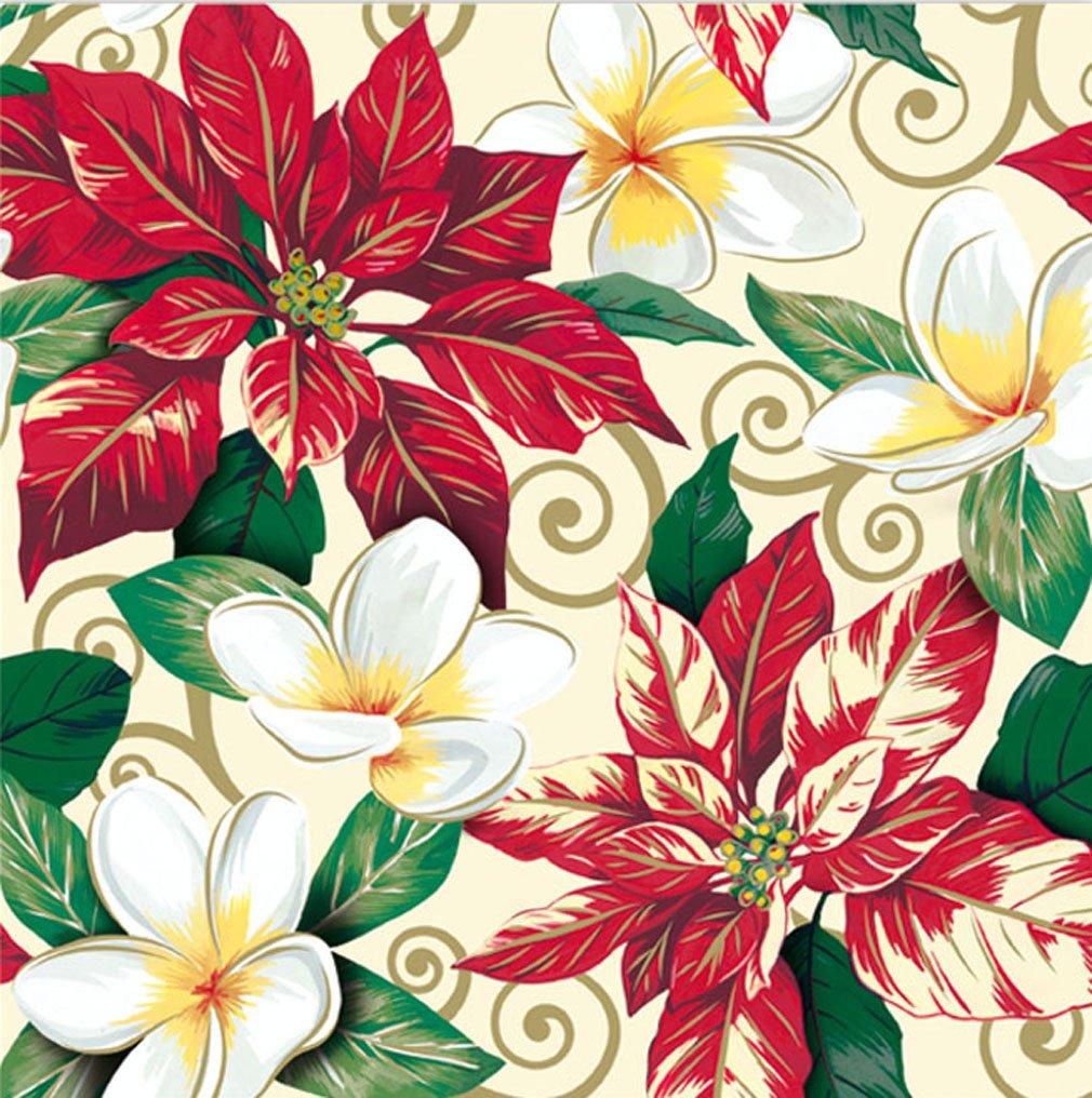 Amazon festive hibiscus poinsettia design hawaiian gift wrap festive plumeria poinsettia design hawaiian gift wrap paper 2 rolls izmirmasajfo