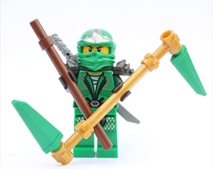 LEGO NinjagoTM Lloyd ZX (Green Ninja) with Weapons: Amazon ...
