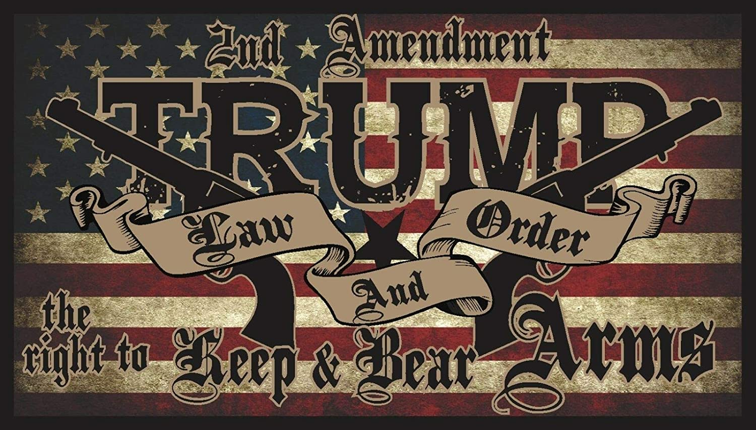 3x5ft  Trump 2020 Trump Law and Order Flag