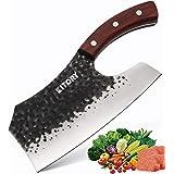 "KITORY Forged Vegetable Cleaver 7.4"" Effort Saving Kitchen Knife Chinese Chef's Knives Handmade Full Tang Chopper Break throu"