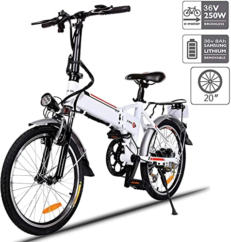 Aceshin 20 Folding Electric Bike 7 Speed E-Bike, 36V Lithium Battery 250W Motor Electric Bicycle for Adults