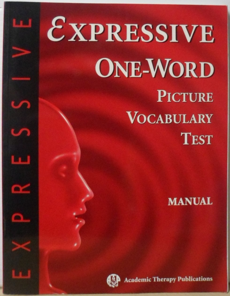 Expressive One Word Picture Vocabulary Test Manual: Rick Brownell:  9781571281357: Books - Amazon.ca