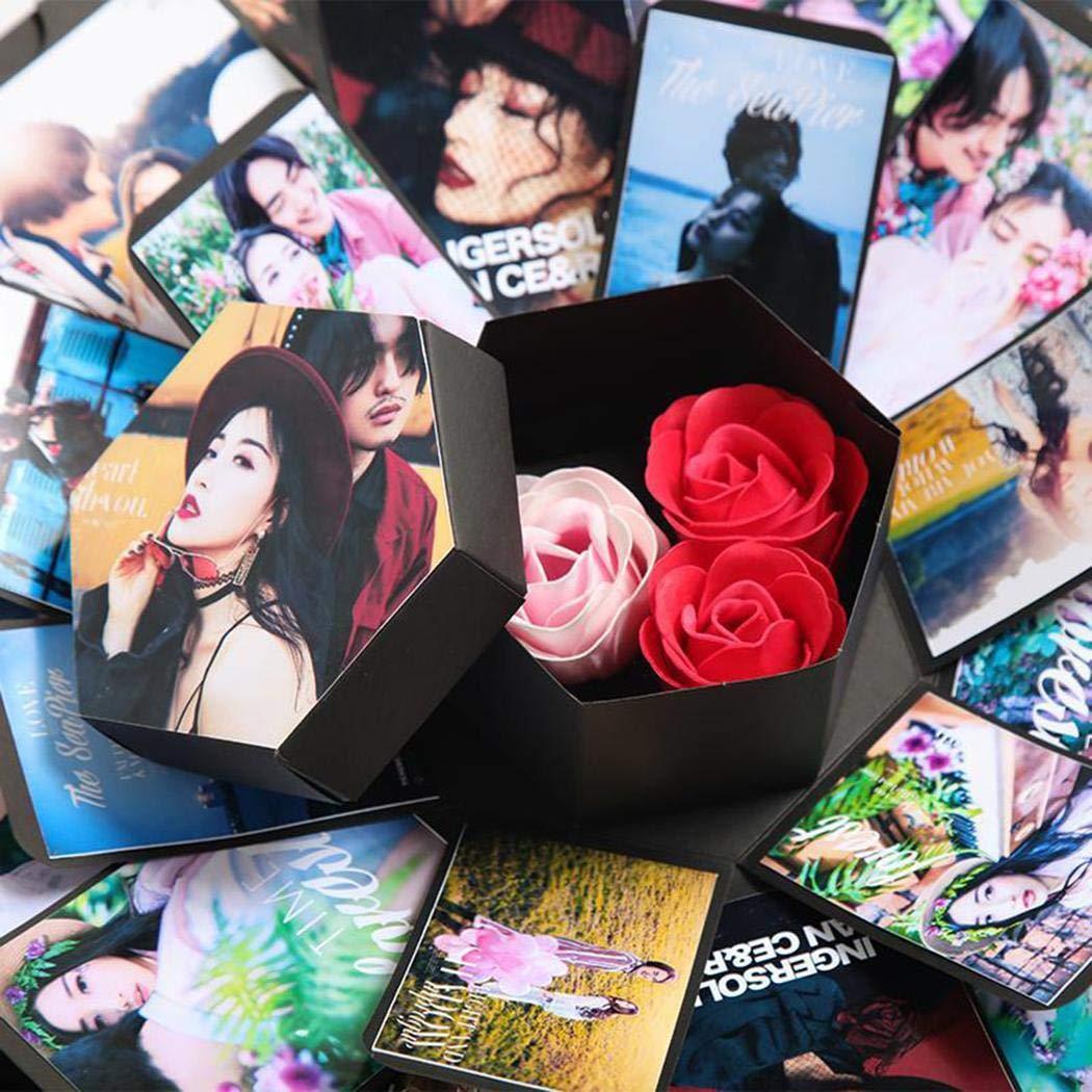 Amazon.com: Evelove Explosion Box Lovers Birthday Valentines Day Christmas DIY Album Creative Gift Albums