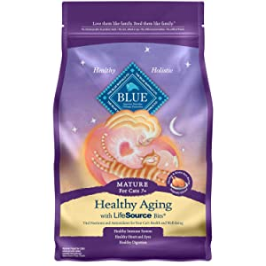 Blue Buffalo Healthy Aging Chicken & Brown Rice Dry Cat Food