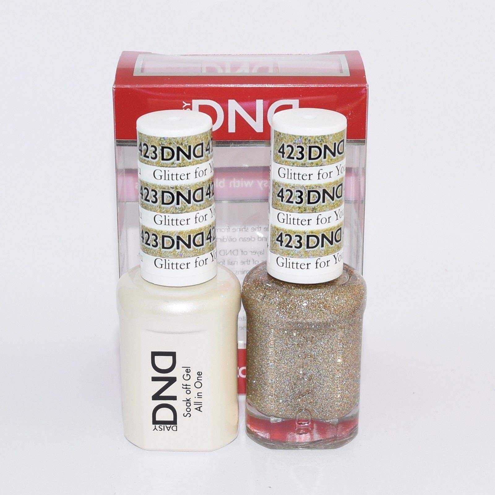 DNDDuo Gel (Gel & Matching Polish) Spring Set 423 - Glitter for You by DND Gel by DND