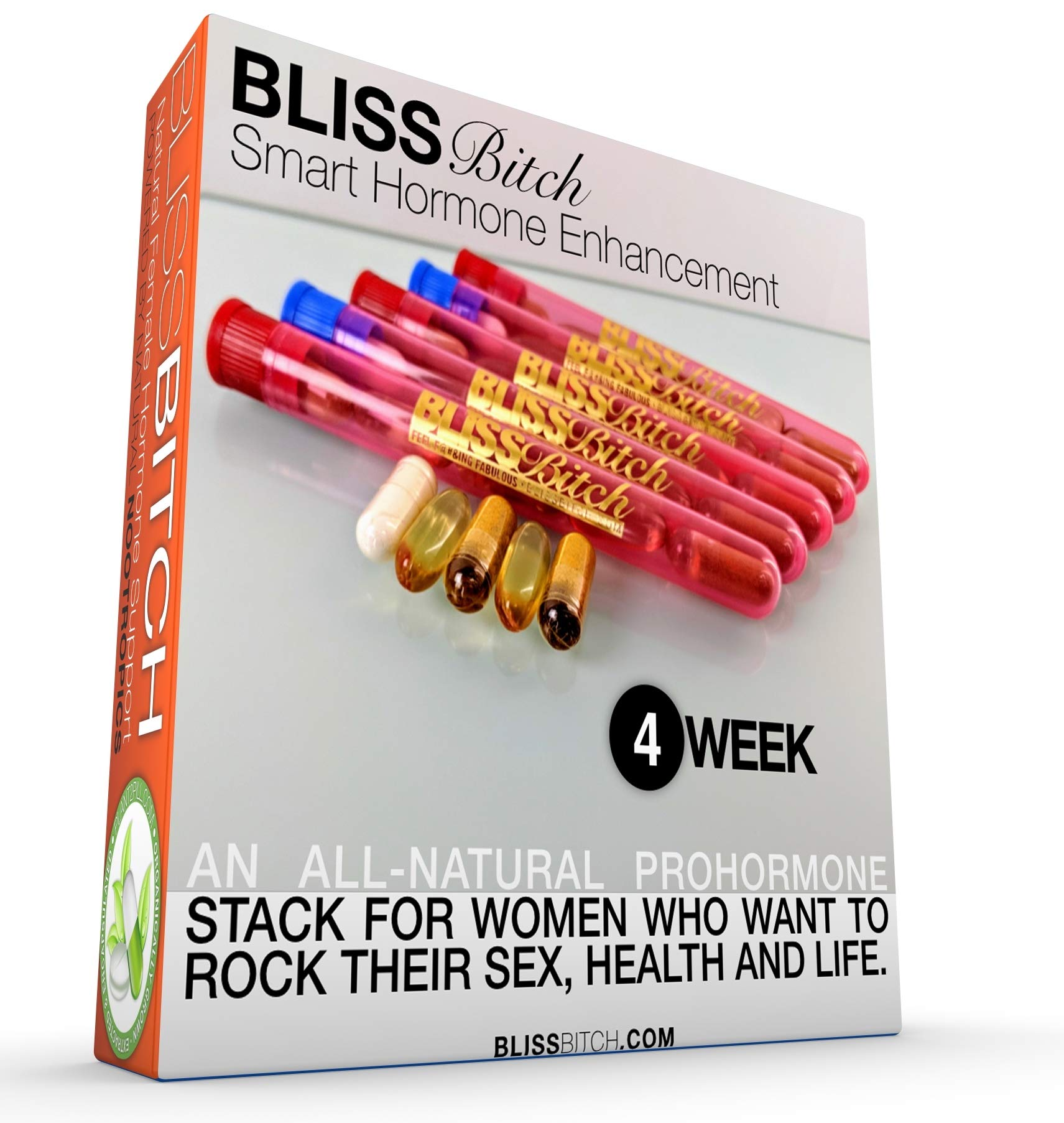 BlissBitch Restoramones - Female Pre-hormones - Fast, Natural Solution For Hot Flashes, Wrinkles, Mood Swings, and Other Issues with Menopause and Menses - Natural Alternative to BioIdentical Hormones
