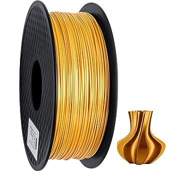 GEEETECH PLA filamento 1.75mm Seda Oro, impresora 3D Filamento PLA 1kg Carrete