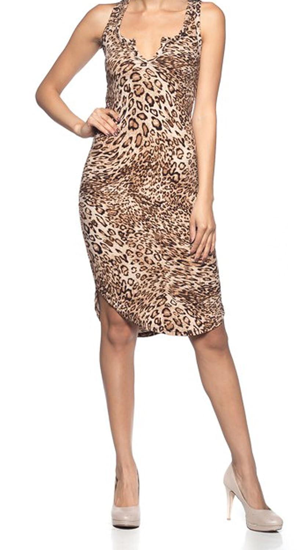 08871a624dd4 Top7: Simply Savvy Co USA - Slim Leopard Cheetah Animal Print Midi Dress  Gown for Women