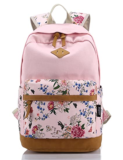 Leaper casual style lightweight canvas laptop backpack cute travel leaper casual style lightweight canvas laptop backpack cute travel school college shoulder bagbookbags fandeluxe Image collections