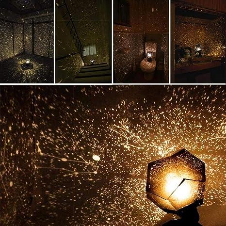 Lisnece - Proyector de luz nocturna, proyector Phantom Star con 12 ...