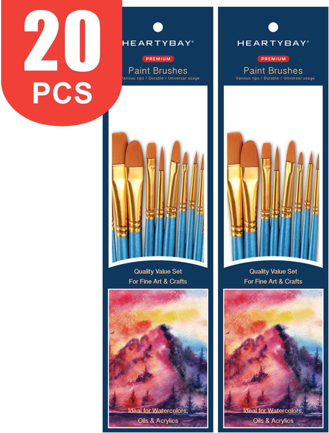 Art Paint Brush Artist Craft Set Painting Oil Acrylic Watercolour Mixed Sizes