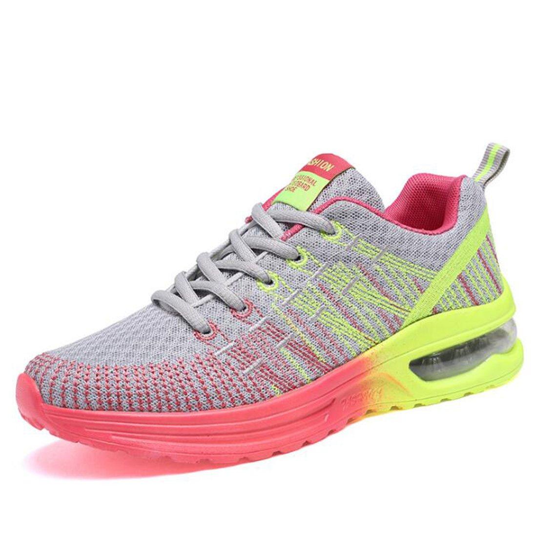 ZHONGST Sneakers Traspiranti da Donna con Ammortizzazione delle Scarpe da Corsa Che Volano su Sneakers Intrecciate 1221SUNY