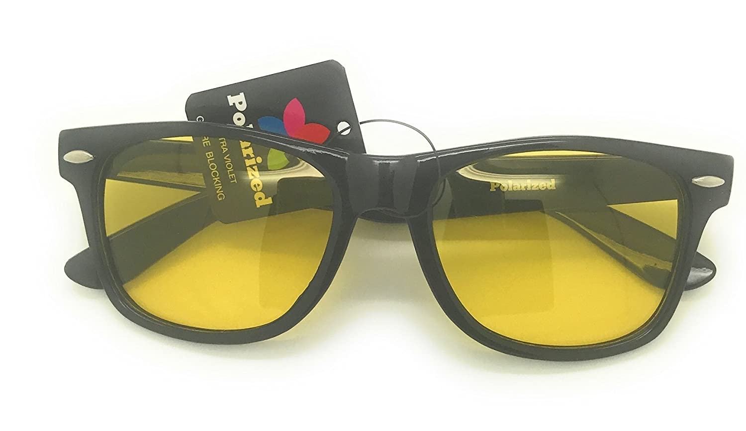 56683d7aab2 Wayfarer Sunglasses and Yellow Tinted Computer Glasses Eye Strain Perfect  for Gaming Anti Glare Night Driving Glasses Or Shooting Anti Blue Light  Rays ...