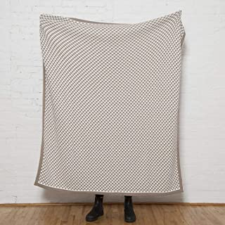 product image for in2green Reversible Repeating Triangles Blanket Eco Throw - 50 x 60 - Hemp