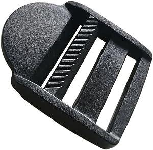 """10 Pcs 1-1/2"""" (38mm) Plastic Tension Locks Triglide for Belt Backpack Camping Bag Belt Suitcase (Black)"""