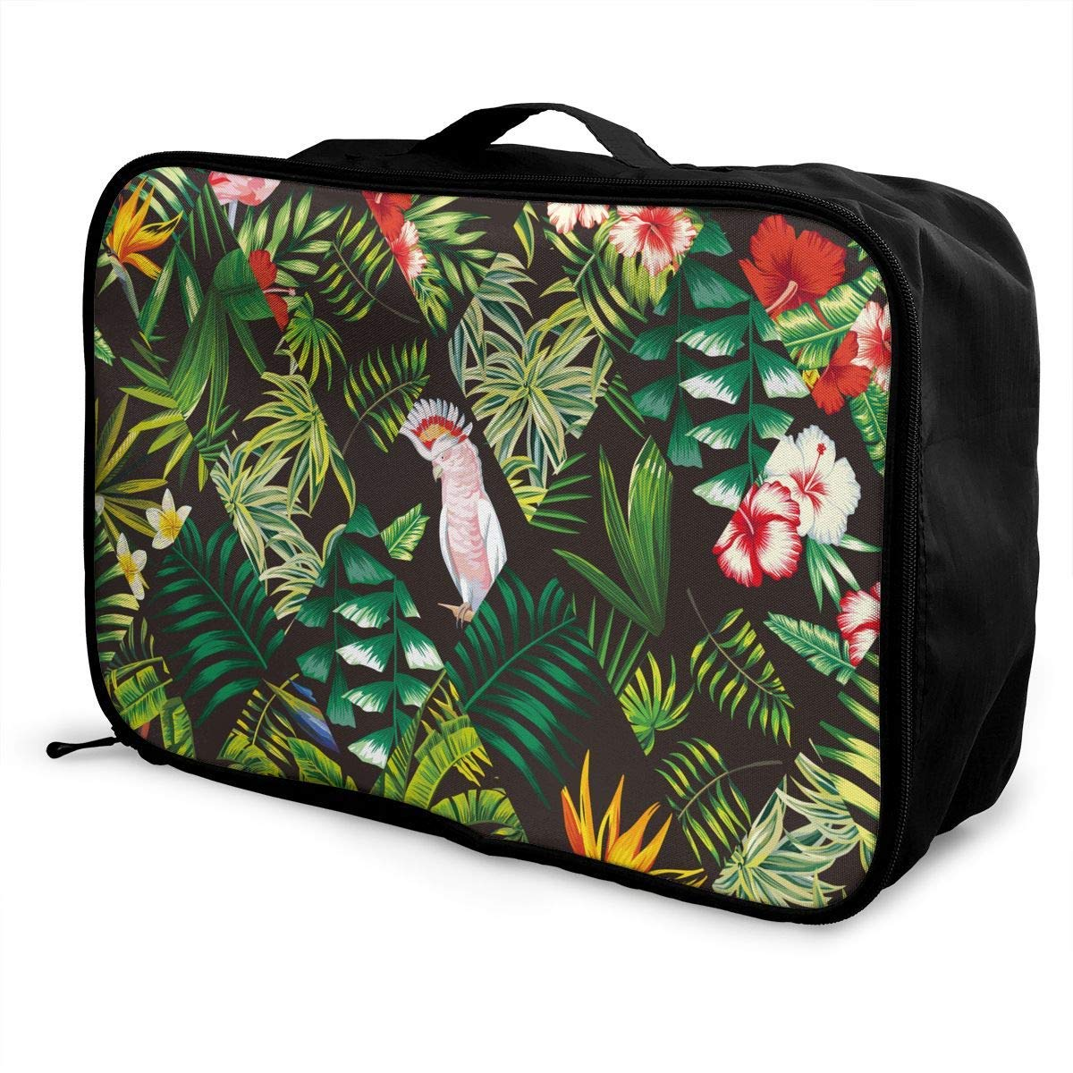 Parrot Pink Flamingo Palm Leaf Travel Duffel Bag Waterproof Fashion Lightweight Large Capacity Portable Duffel Bag for Men /& Women JTRVW Luggage Bags for Travel
