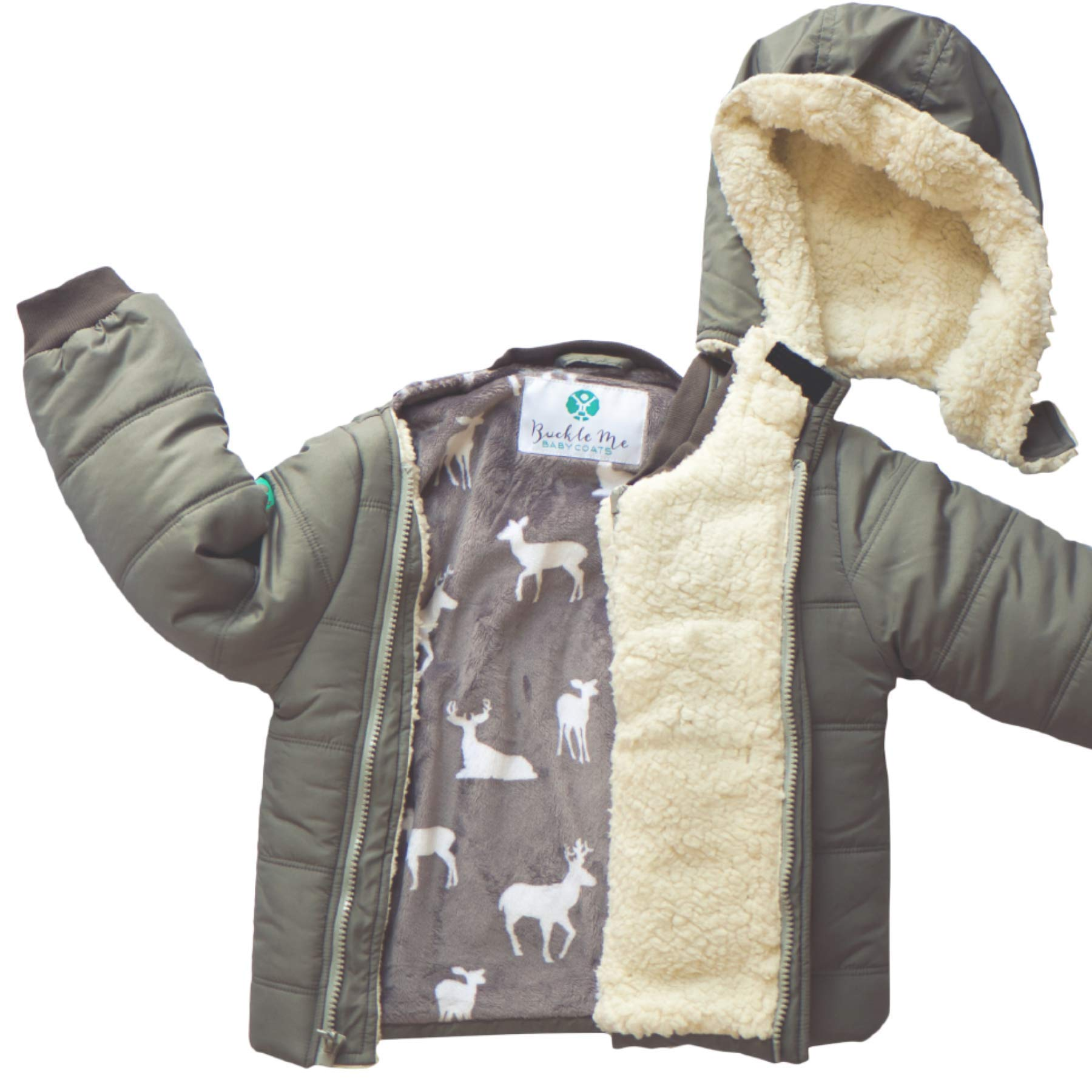Buckle Me Baby Coats | Car Seat Winter Jacket Toddler Boy Girl Grey (2T) by Buckle Me Baby Coats