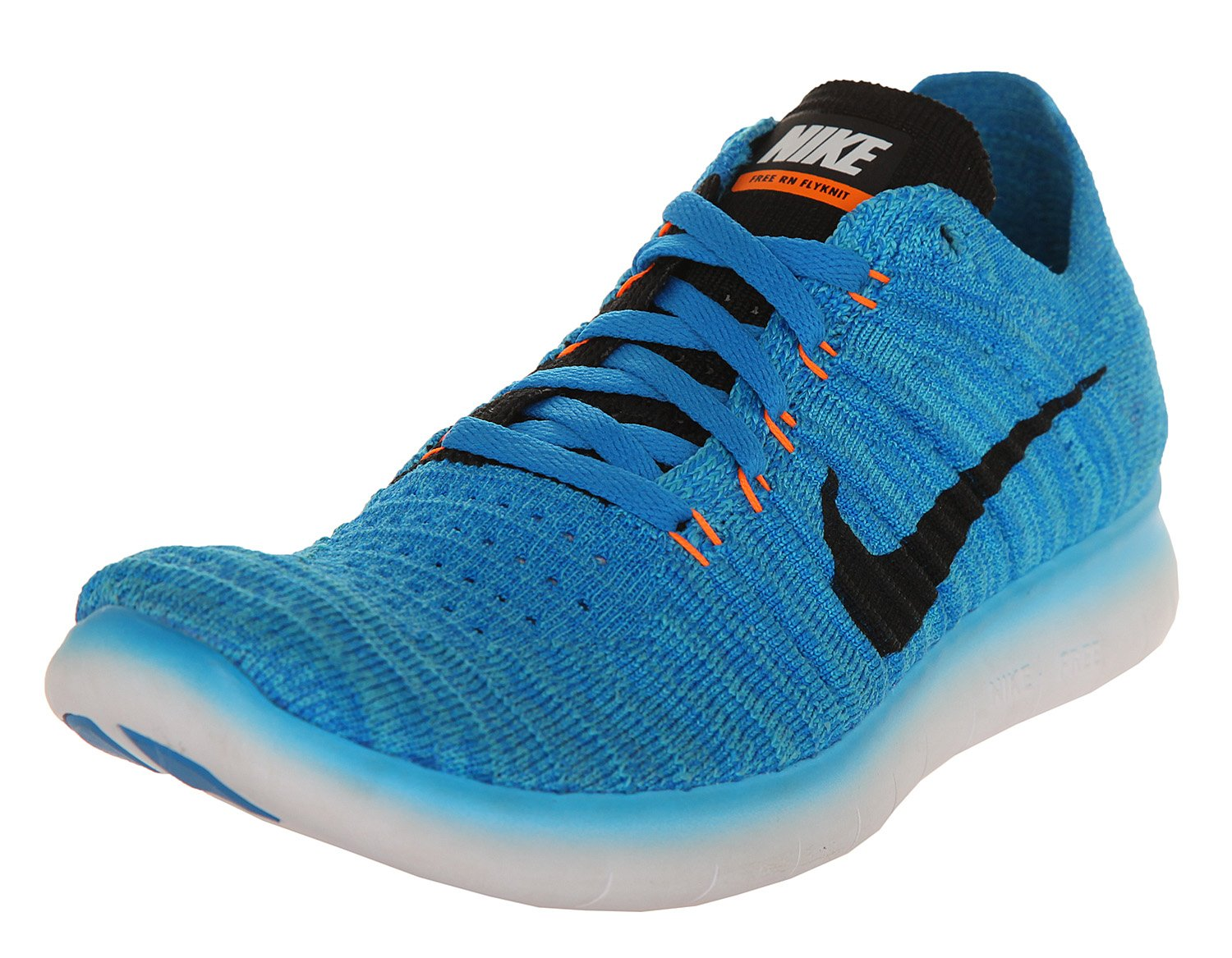 info for 9f0c8 d7790 Nike Kids Free RN Flyknit GS, PHOTO BLUE/BLACK-GAMMA BLUE-TOTAL ORANGE,  Youth Size 5.5