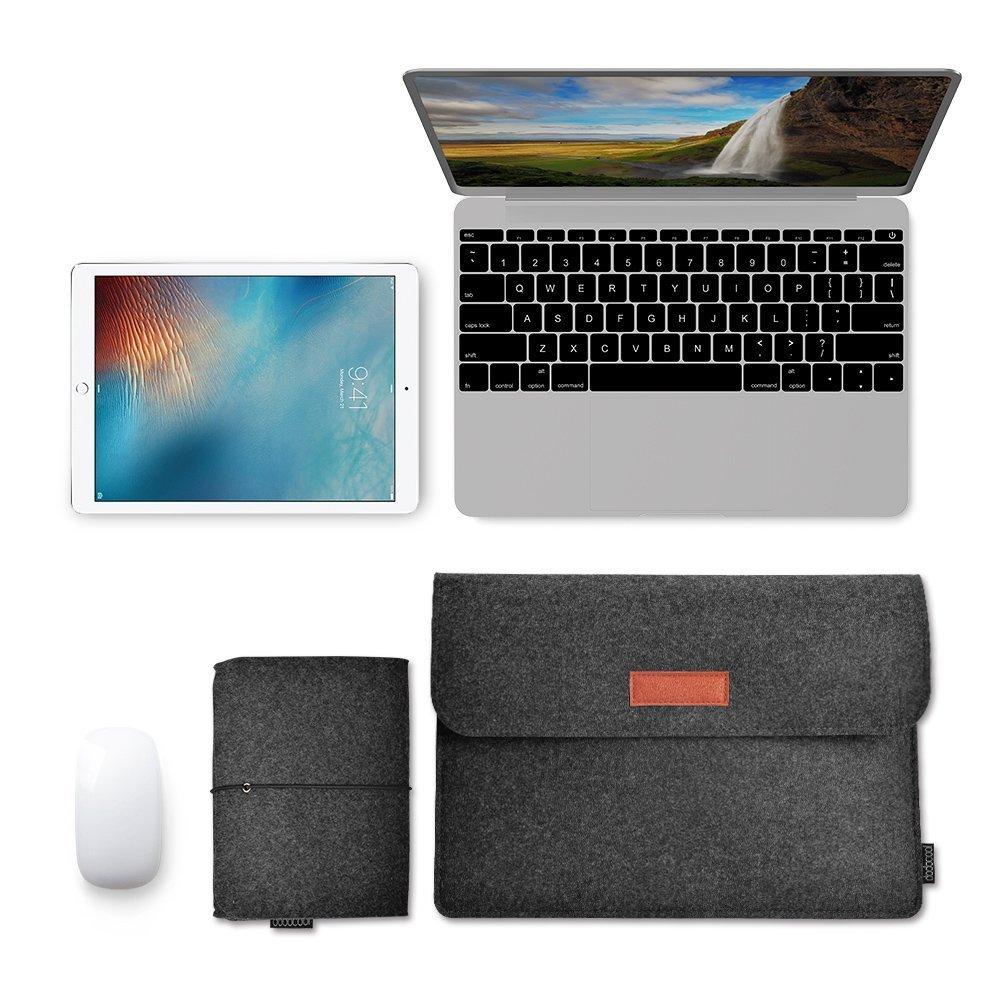 2d5f346a920 dodocool Funda de fieltro 13.3 pulgadas para Macbook con Bolsa de ratón para  Apple 13