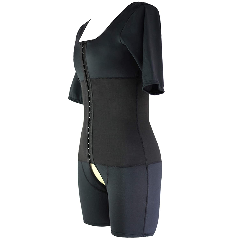 51fda69b11 Amazon.com  Queenral Men Body Shaper Bodysuit Shapewear Slimming Belly  Corset Open Crotch  Clothing