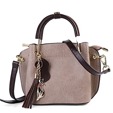 59951714aa77 Women's Top Handle Satchel Genuine Leather Handbags Tote Purse ...