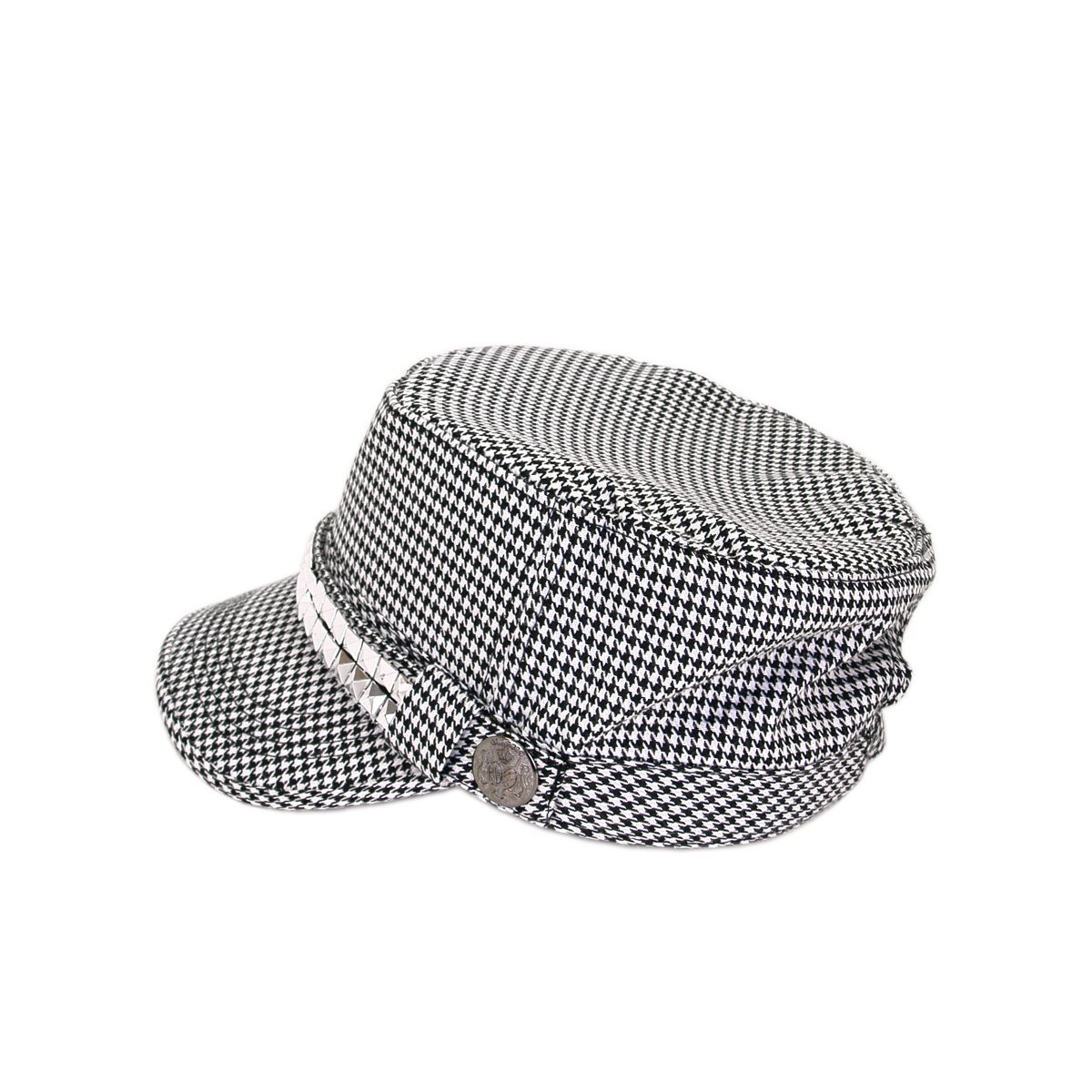 d2542a54332 TrendsBlue Adjustable Cotton Military Style Studded Bling Army Cap ...