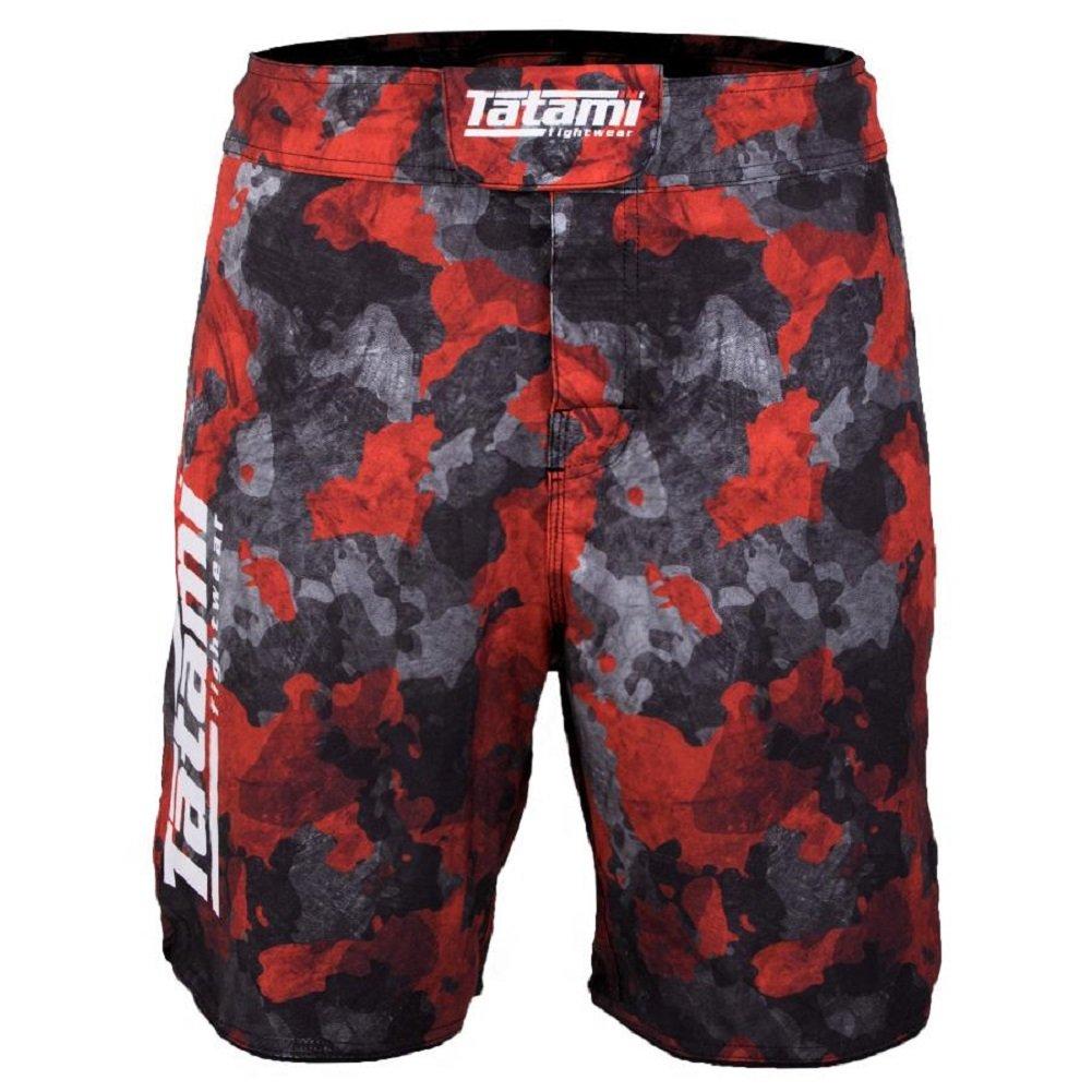 TALLA XL. Tatami No GI Fight Pantalones Cortos Renegade–Red Camo–MMA Fight Fitness No GI Grappling Jiu-Jitsu Pantalones Cortos para Hombre Pantalones De Deportes De Lucha