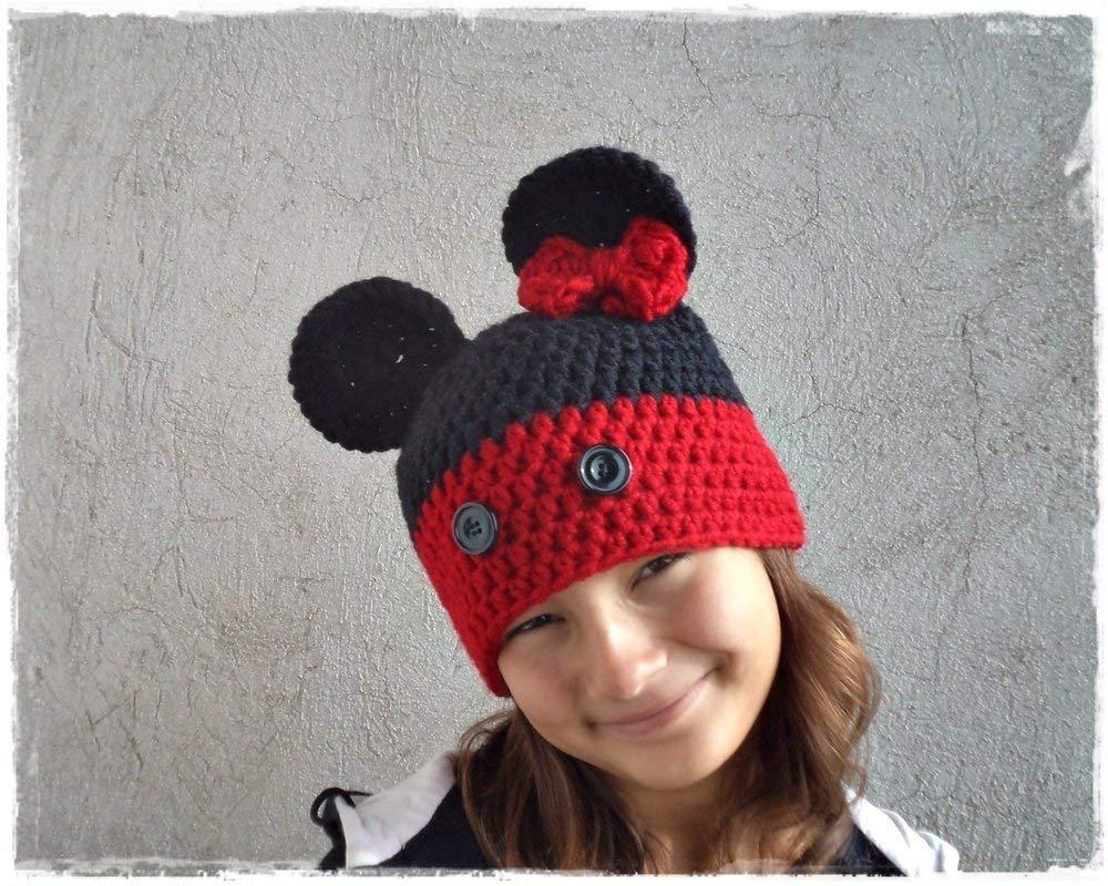 Amazon com: Crochet Mouse Hat, Baby Kids Mouse Hat: Handmade