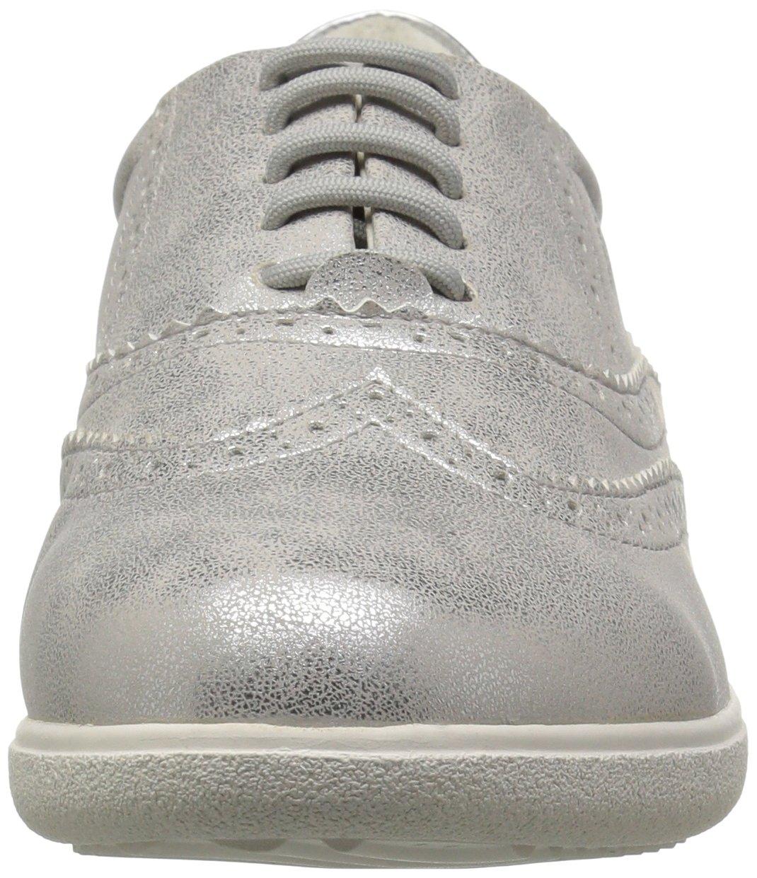 Geox Women's Nihal 1 Sneaker B073HVBVCK 41 M EU (10.5 US)|Off White/Silver