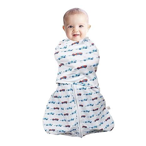 Clevamama Swaddle - Saco para dormir 3 en 1, color azul