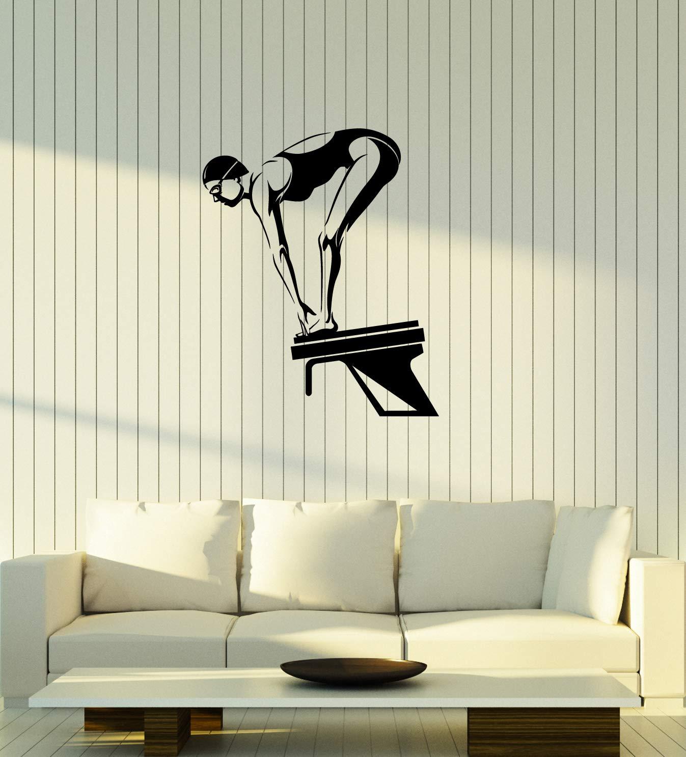 Amazon Vinyl Decal Swimmer Swimming Pool Wall Sticker Mural