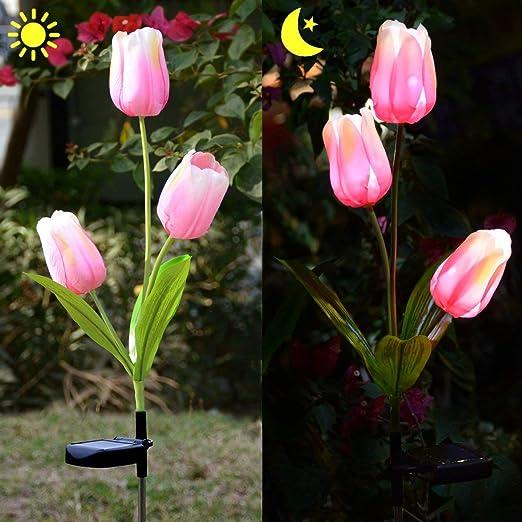 Lampe Solaire Fleur Jardin Luminaire Solaire