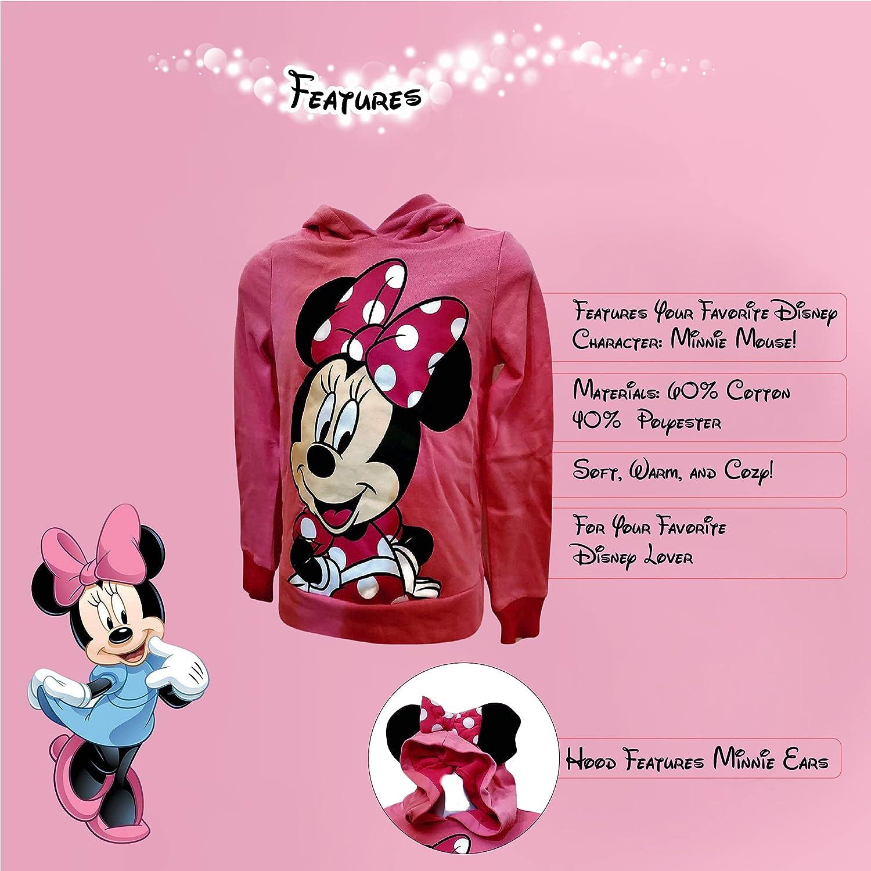 Disney Sweet Minnie Girls Ear Hoodie, Pink, XLarge: Clothing