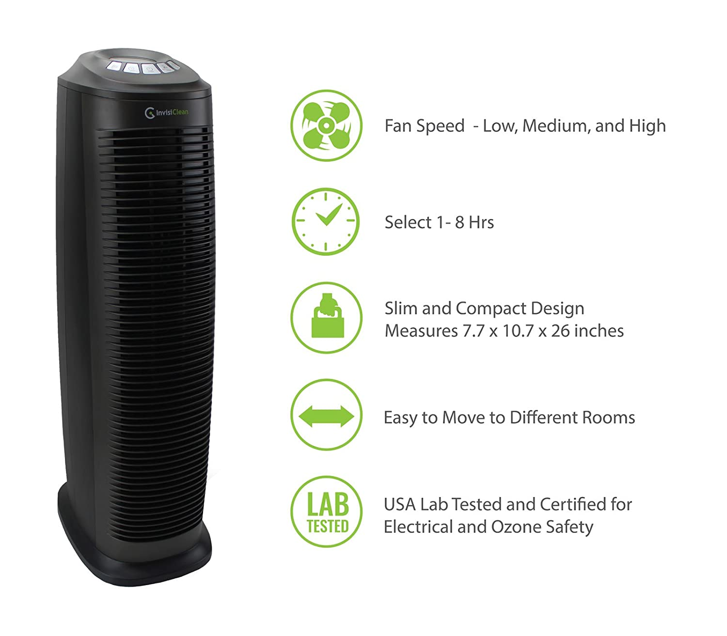 invisiclean 4-in-1 tower air purifier review