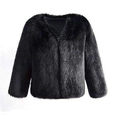Women s Winter Warm Short Faux Fur Coat at Amazon Women s Coats Shop f1a595894