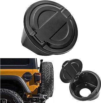 New Fuel Filler Door Cover Gas Tank Cap 2//4 Door For 2018 Jeep Wrangler JL Black