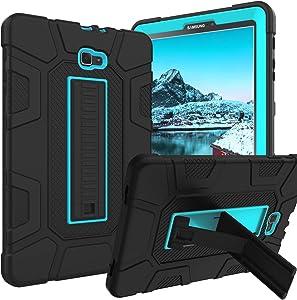 Galaxy Tab A 10.1 2016 Case SM-T580 T585 T587 GUAGUA Kickstand 3 in 1 Hybrid Hard Heavy Duty Rugged Shockproof Protective Anti-Scratch Tablet Case for Samsung Galaxy Tab A 10.1 2016 Blue/Black