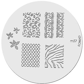 Amazon Konad Stamping Nail Art Image Plate M57 Nail Art