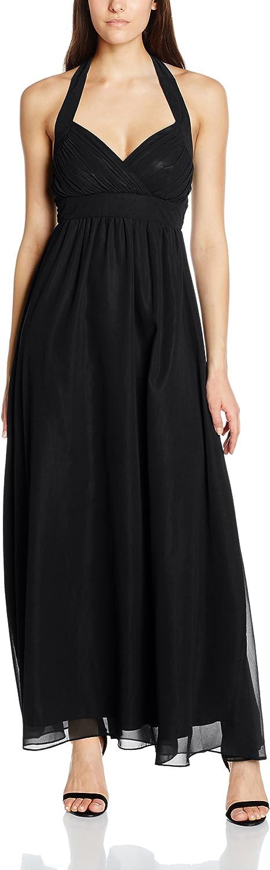Lange Damen Neckholder Kleider Cocktailkleider Abendkleider lange Ballkleider Maxikleider Kleid Frauen
