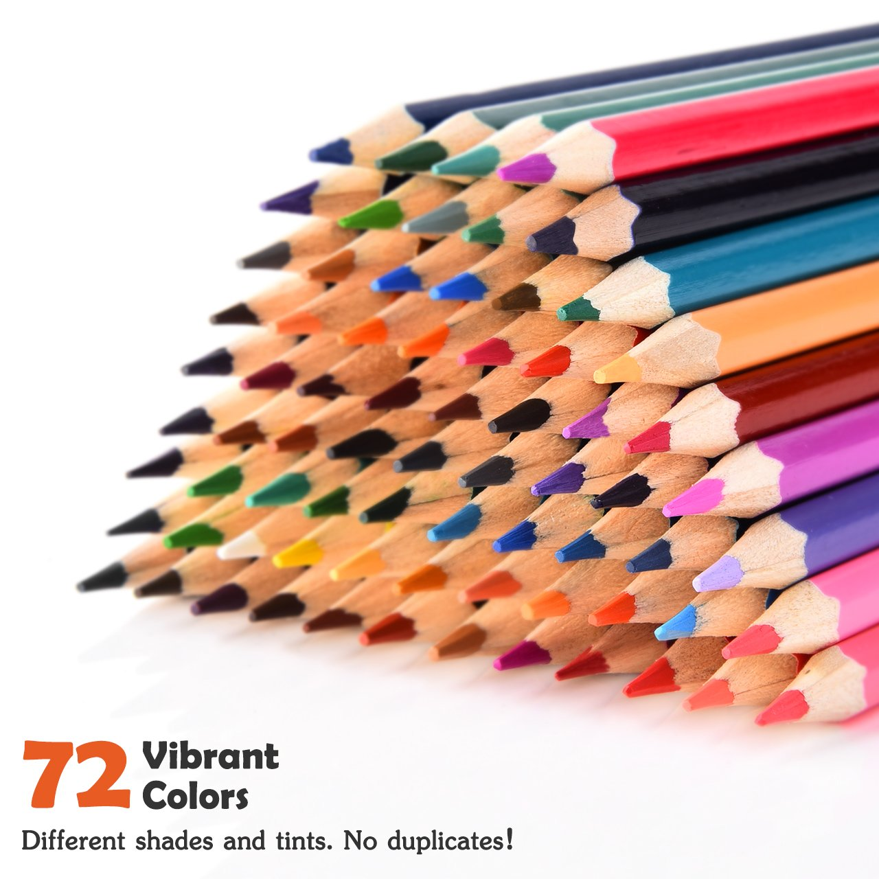 Colored Pencils, Atmoko Color Pencils Set with 72 Colored Pensils, Easy to Sharpen, [Hard to Break], Colored Pensils Bulk for Kids and Adults, Assorted Colors by ATMOKO (Image #2)