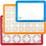 MIU Macaroon Silicone Baking Mat, Non-Stick Cookie Baking Mat, 2 Half Sheets and 1 Quarter Sheet, Perfect Baking Pad…