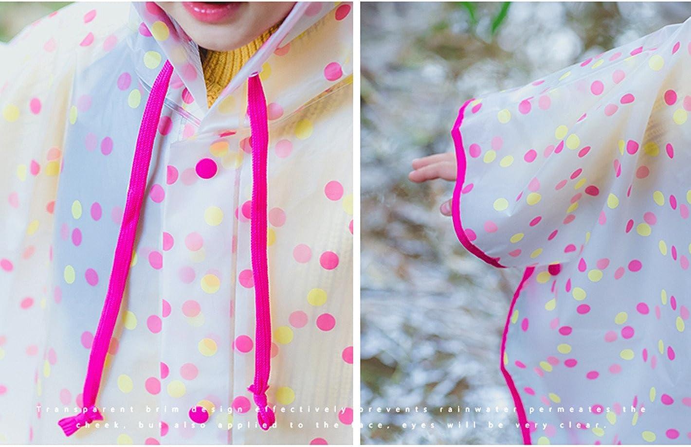 SWIHELP Kinder Regenmantel Regenponcho Regenjacke mit Kapuze Wasserdicht Regenponcho Unisex Wasserdicht Atmungsaktiv Regenmantel