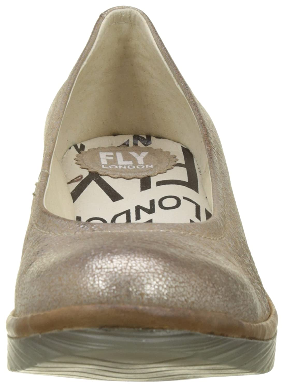 FLY FLY FLY London Damen Pump Pumps, goldfarben Gold (Luna/Camel) f5ff95