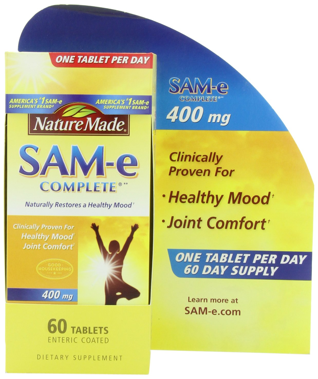 Nature Made SAM-e Complete 400 mg - 60 Enteric Coated Tablets