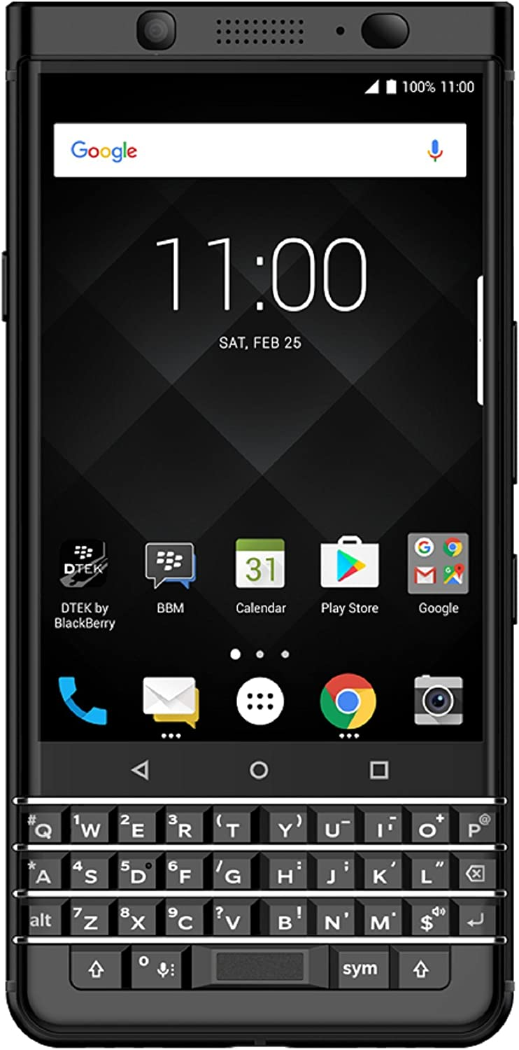 BlackBerry KEYone (64GB, 4GB RAM) BB100-7 - 4G LTE GSM Factory Unlocked DUAL SIM Android International Model (Limited Edition) Black